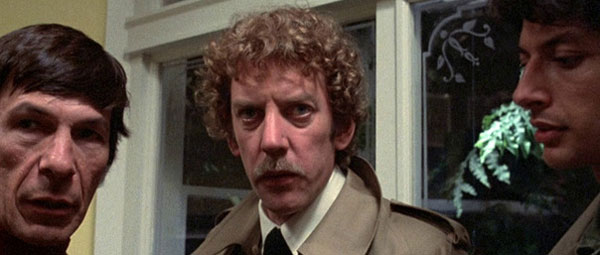 Invasion of the Body Snatchers: Leonard Nimoy, Donald Sutherland en Jeff Goldblum