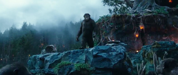 Dawn of the Planet of the Apes: Caesar leidt de groep hypersnel-evoluerende apen